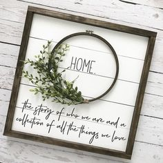 This shiplap wreath sign is calling your name! Such a unique way to add farmhouse charm, character and texture to your walls without the commitment of adding real planks to an entire room. The sweet home quote is a perfect way to tell you Diy Signs, Home Signs, Wall Signs, Farmhouse Signs, Farmhouse Decor, Farmhouse Frames, Farmhouse Windows, Vintage Farmhouse, Farmhouse Style