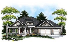 **Country-Inspired Ranch Home Plan - 89261AH | 1st Floor Master Suite, CAD Available, Craftsman, PDF, Ranch, Southern, Split Bedrooms | Architectural Designs