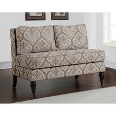 Cassidy Taupe Loveseat | Overstock.com
