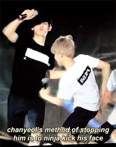 because someone had to stop baekhyun thank you chanyeol (3/4)