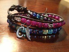 Personalize your own Wrap bracelet at www.etsy.com/shop/roxiejanejewelry