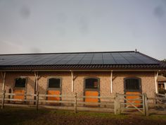 Stable barn with pV solar panels.