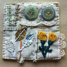 Textile collage by Marilen/ideas de bordados Marilen