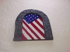 Fairy door American flag stars and stripes by magikallittlethings