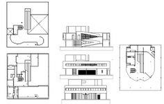 Bungalows Cad drawing and floor plan 3d Architect, Building Layout, Types Of Architecture, Steel Detail, Study Rooms, High Rise Building, Building Structure, Cad Drawing, Autocad