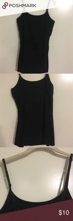 Express bra cami tank top Express bra cami tank top in black with shelf bra and adjustable straps Express Tops Tank Tops