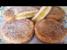 PASTELES DE MANZANA CON PAN DE MOLDE Y SIN HORNO // BEATRIZ COCINA. - YouTube Spanish Desserts, Mini Apple Pies, Deli Food, Pan Dulce, Canapes, Empanadas, Cupcake Cookies, Kitchen Recipes, Food Videos