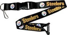 Pittsburgh Steelers Break Away Lanyard with Double Sided Logo/Graphics #PittsburghSteelers Visit our website for more: www.thesportszoneri.com