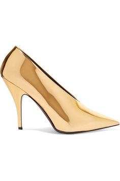 Stella McCartney - Faux Mirrored-leather Pumps - Gold - IT40.5