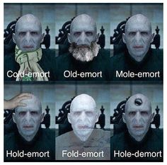 Different  types of Lord Voldemort:))))