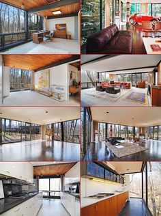 1953 Mid-century glass house featured in Ferris Bueller's Day Off on the market in Highland Park, Chicago for $1.65 million. Designed by architects A. James Speyer and David Haid. 5,300 sq. ft. of living space, 4 bedrooms, 3 bath features floor-to-ceiling windows throughout, sits on one acre lot with 43,560 sq. ft.