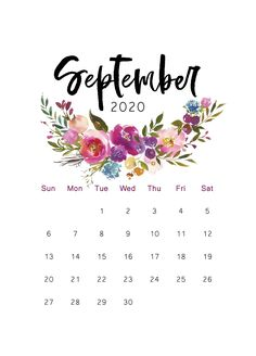 Cool Calendars, Cute Calendar, Print Calendar, Free Printable Calendar, Free Printables, Calendar Templates, Blank Calendar, Monthly Calendars, September Calendar