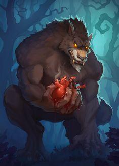 Furry Wolf, Furry Art, Weird Creatures, Fantasy Creatures, Mythical Creatures, Fantasy Beasts, Fantasy Art, Werewolf Art, Monster Illustration