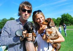 LIAM GALLAGHER & NICOLE APPLETON AND THEIR DOGS