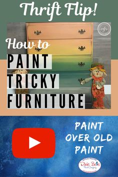 Watch this free video and learn how to flip your furniture with chalk mineral paint! Reupholster Furniture, Furniture Repair, Paint Furniture, Furniture Projects, Furniture Makeover, Diy Projects, Mineral Paint, Furniture Restoration, Repurposed Furniture