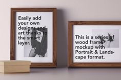 This is a series of two psd wood frame mockup with landscape and portrait view. You can add your own designs...