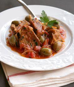 Beef Stew with Green Olive | Greek Food - Greek Cooking - Greek Recipes by Diane Kochilas