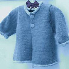 Free PDF Digital Baby Knitting Pattern Aran Jacket or Cardigan Coat Chest  50 - 70 cm 32eab904a921