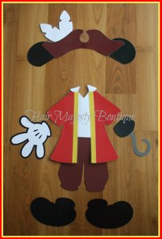 Mickey Mouse as Captain Hook  Body Part by HairMajestyBoutique, $18.00