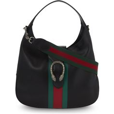 Gucci Dionysus Jackie medium leather hobo bag ($1,710) ❤ liked on Polyvore featuring bags, handbags, shoulder bags, gucci purse, genuine leather purse, hobo purses, hobo shoulder bags and leather hobo purses
