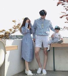 Family Outfits, Baby Outfits, Cute Outfits, Ulzzang Kids, Ulzzang Couple, Matching Couple Outfits, Matching Couples, Korean Street Fashion, Korea Fashion