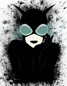 Catwoman by SkeletonsL1ve on Etsy One of my favorite villains/heros (she's rather in the gray area..)