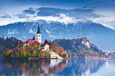 スロベニア北西部のブレッド湖