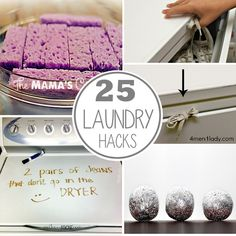 25 laundry hacks and tips to make laundry super easy and efficient. Love these ideas from @hollyhomer