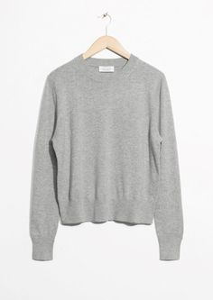Grey Cashmere Knit Sweater