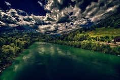 """A river called """"Drau"""" Hdr Photography, River, Outdoor, Image, Places, Vacation, Outdoors, Outdoor Games, The Great Outdoors"""