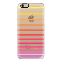 iPhone 6 Plus/6/5/5s/5c Case - Sunrise Ombre Stripes Transparent ($40) ❤ liked on Polyvore featuring accessories, tech accessories, iphone case, slim iphone case, transparent iphone case, apple iphone cases and iphone cover case