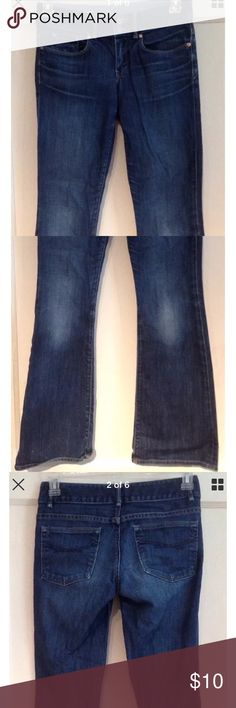 """GAP 1969 BOOTCUT JEANS Women's 2 L32 Excellent condition pre-owned """"Perfect Boot"""" distressed 100% cotton jeans by GAP 1969! Size women's 2 regular or 26. Waist: 15.25"""" across lying flat  Rise: 7.75"""" Inseam: 32 Front zip closure with two buttons GAP Jeans Boot Cut"""