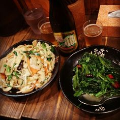 YOKOHAMA FOODs 杜記→五目焼&空心菜炒め♪