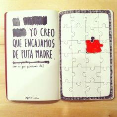No sé qué pensarás tú | 2014 Love Diary, Love Quotes, Inspirational Quotes, Wreck This Journal, Life Rules, More Than Words, Love Book, Boyfriend Gifts, Romantic