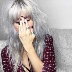 Silver hair is goth but glam.