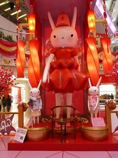 fifi lapin exhibition at apm shopping center in hong kong