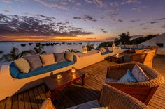 What a stunning view from Ibo Island Lodge in Mozambique. Nothing wrong with sitting here, watching the sun sink over mainland Africa, while sipping an ice cold Cities, Cottages By The Sea, Out Of Africa, Destin Beach, Outdoor Furniture Sets, Outdoor Decor, Luxury Holidays, Island Resort, Beach Holiday