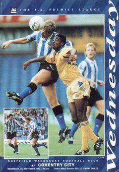 2 September 1992 v Sheffield Wednesday Won 2-1