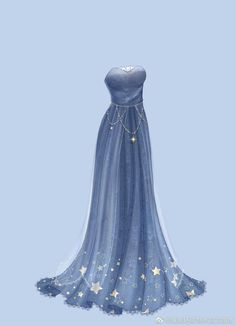 Anime Outfits, Dress Outfits, The Dress, Fashion Design Drawings, Fashion Sketches, Vestidos Anime, Pretty Dresses, Beautiful Dresses, Fantasy Gowns