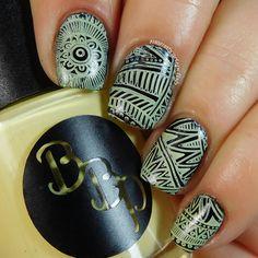 Bad Bitch Polish - Primrose - a pale yellow stamping polish. #prsample #badbitchpolish #stampingpolish #indiestampingpolish #nails #nailart