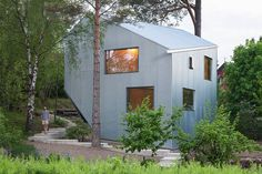A Sculptural, SimplePrefab Home in Sweden - http://freshome.com/prefab-home-in-sweden/