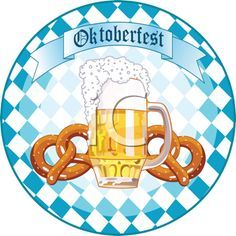 Oktoberfest Clipart - Beer and Pretzels
