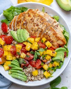 Eat Clean with these Healthy Mango Salsa Chicken Bowls! Eat Clean with these Healthy Mango Salsa Chicken Bowls! Clean Eating Recipes, Clean Eating Snacks, Healthy Eating, Cooking Recipes, Crockpot Recipes, Clean Foods, Sauce Recipes, Healthy Meal Prep, Healthy Dinner Recipes