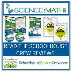 Do your students need help to excel in Science and Math?    If so, ScienceandMath.com has some products you will be interested in learning more about.  #hsreviews #science #math #homeschool