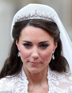 Kate opted for the Cartier Halo Scroll Tiara on her wedding day in April 2011