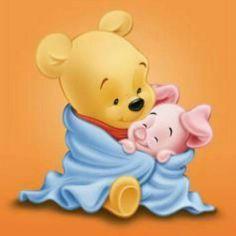 A Cuddle for Baby Eeyore, Winnie The Pooh Canvas Print Winne The Pooh, Winnie The Pooh Quotes, Winnie The Pooh Friends, Disney Winnie The Pooh, Cartoon Pics, Cute Cartoon, Eeyore, Tigger, Bugs Bunny Drawing