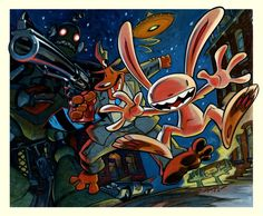 Steve Purcell's Sam & Max.  The greatest comic ever... EVER
