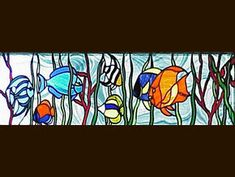 Stained Glass Window DbyD-8082 Use stain glass to make a statement in your home