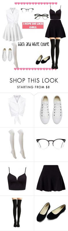 """""""black and white lesbian ¢συρℓє ♥"""" by kookies-outfit ❤ liked on Polyvore featuring Converse, Charlotte Russe, Spitfire and Miss Selfridge"""