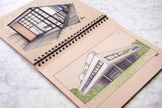 Design Architektur Architecture Einfamilienhaus Home House Sketch